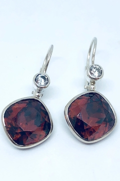 Laurent Léger Red Magma Earrings - Alternate List Image
