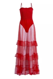 Tiny House of Fashion Red Mesh Coverup/Dress - Product Mini Image