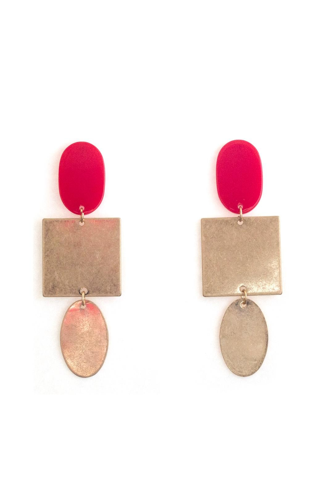 Tselaine Red Metal Earring - Main Image