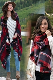 Grace & Lace Red/midnight Poncho - Product Mini Image