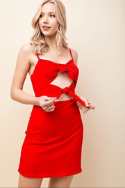 Honey Punch Red Mini Dress - Front cropped
