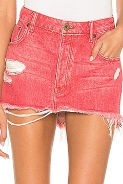 One Teaspoon Red Mini Skirt - Alternate List Image