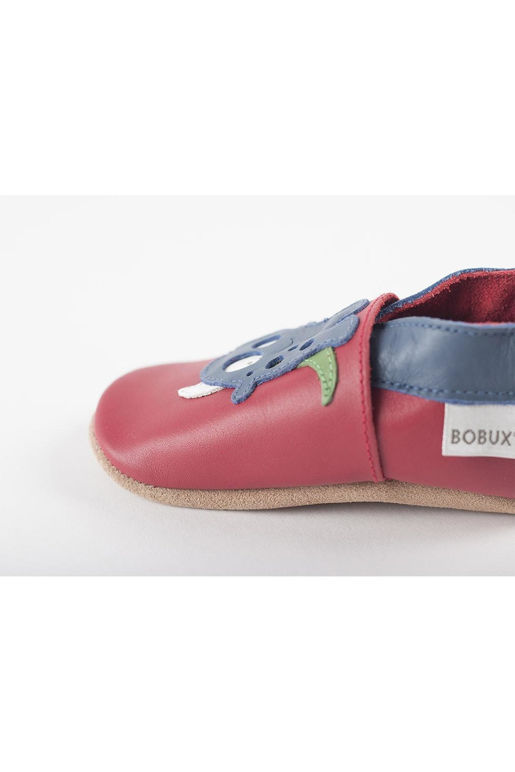 Bobux Red-Monster Soft-Sole Shoes - Front Full Image