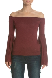 Elan Red Off-Shoulder Top - Product Mini Image