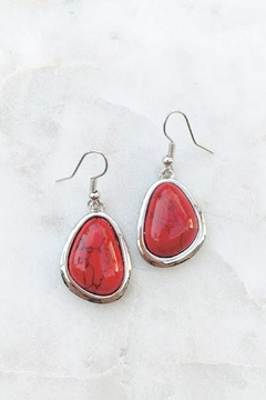 Wild Lilies Jewelry  Red Oval Earrings - Product List Image