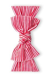 Baby Bling Red Painted Stripe Printed Knot - Product Mini Image