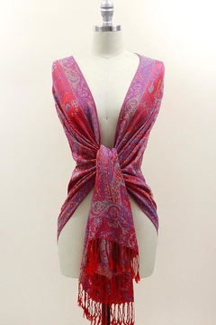 TIGERLILY Red Paisley Scarf - Product List Image