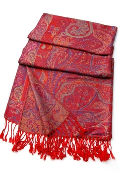 TIGERLILY Red Paisley Scarf - Alternate List Image