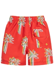 Stella McCartney Kids Red 'Palms' Swim-Shorts - Side cropped