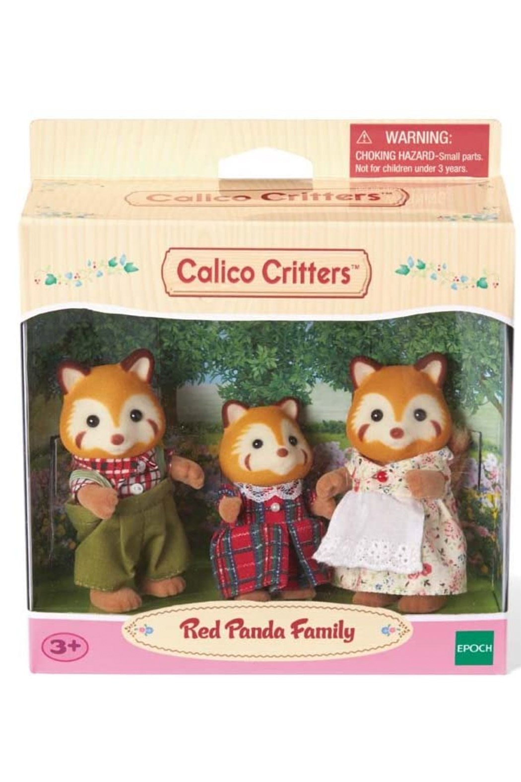 Calico Critters Red Panda Family - Front Full Image