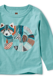 Tea Collection Red Panda Graphic Baby Tee - Front full body