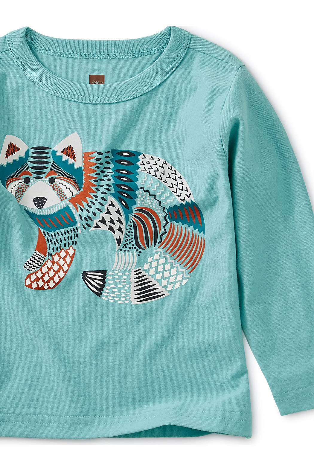 Tea Collection Red Panda Graphic Baby Tee - Front Full Image