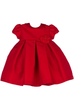 Shoptiques Product: Red Party-Dress & Flower-Brooch