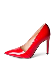 Lady Doc Red Patent Pumps - Front cropped
