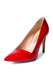 Lady Doc Red Patent Pumps - Front full body