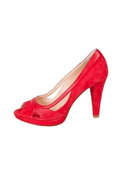 Lady Doc Red Peep-Toe Heel - Product Mini Image