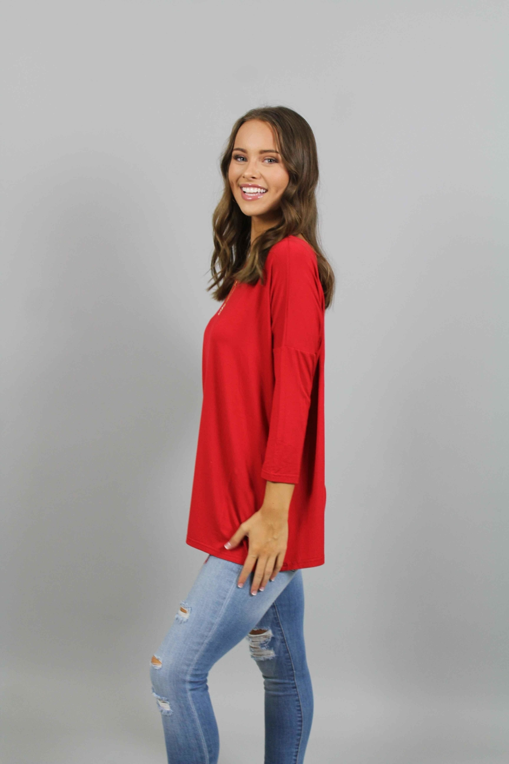8caea49602b Piko Red Top from North Carolina by Ivy and Leo — Shoptiques