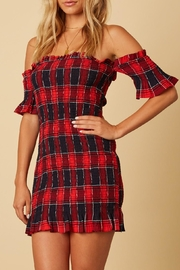 Cotton Candy Red Plaid Dress - Product Mini Image