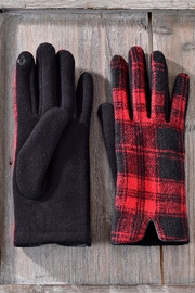 Charlie Paige Red Plaid Gloves - Product Mini Image