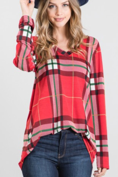 Heimish Red Plaid Happiness Top - Product List Image