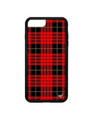 Wildflower Cases Red Plaid iPhone 6+/7+/8+ Case - Front cropped