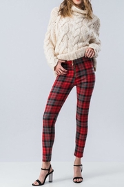 Runway Paris Red Plaid Pants - Product Mini Image