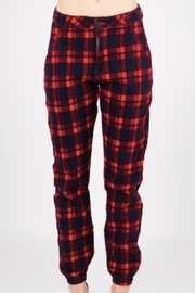 TIMELESS Red Plaid Pants - Front full body