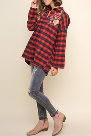 Umgee USA Red Plaid Top - Product Mini Image
