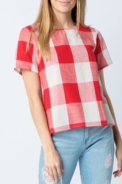 Polagram Red Plaid Top - Product List Image