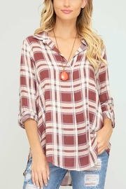 She + Sky Red Plaid Tunic - Product Mini Image