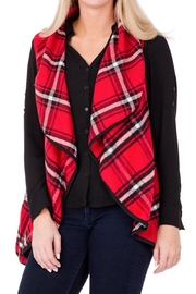 Top It Off Red Plaid Vest - Product Mini Image