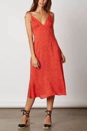 Cotton Candy LA Red Polka-Dot Dress - Front cropped