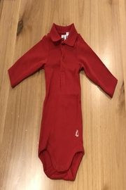 Petit Bateau Red Polo Onsie - Front cropped