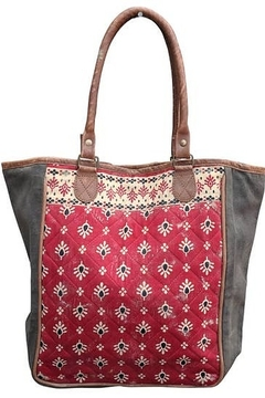 Chloe & Lex Red Quilt Tote - Product List Image
