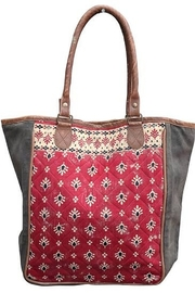 Chloe & Lex Red Quilt Tote - Product Mini Image