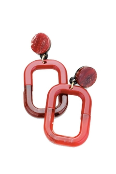 Lets Accessorize Red Rectangle Drop-Earrings - Alternate List Image