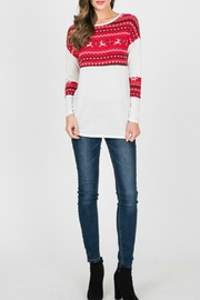 Hailey & Co Red Reindeer Top - Product Mini Image