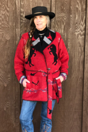 Rhonda Stark Red Rodeo Jacket - Front cropped