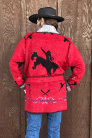 Rhonda Stark Red Rodeo Jacket - Side cropped