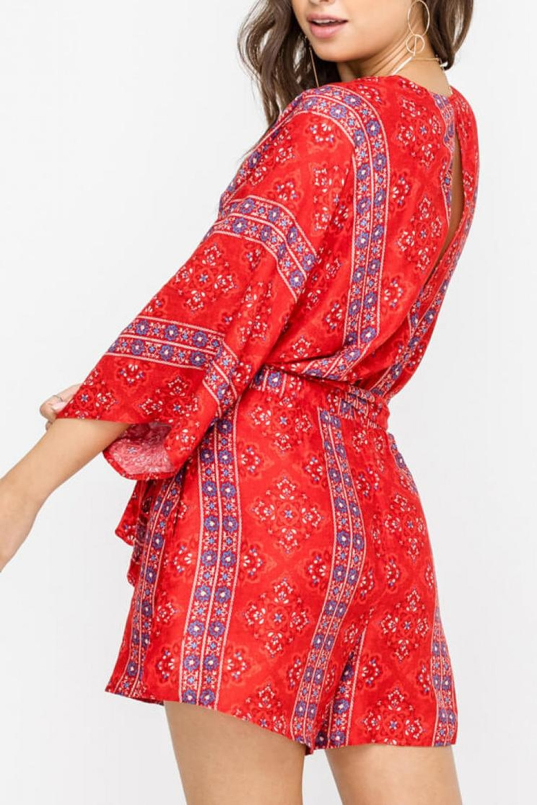 Lush Red Romper - Side Cropped Image