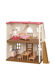 Calico Critters Red Roof Cozy Cottage - Front cropped