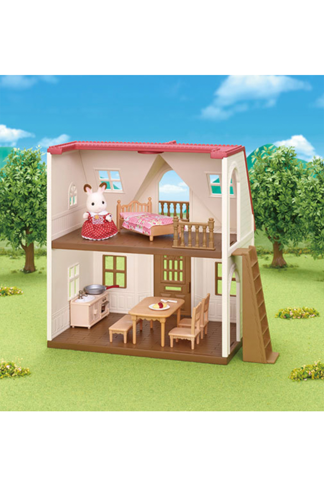 Calico Critters Red Roof Cozy Cottage - Front Full Image