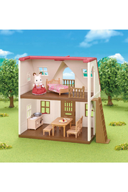 Calico Critters Red Roof Cozy Cottage - Front full body