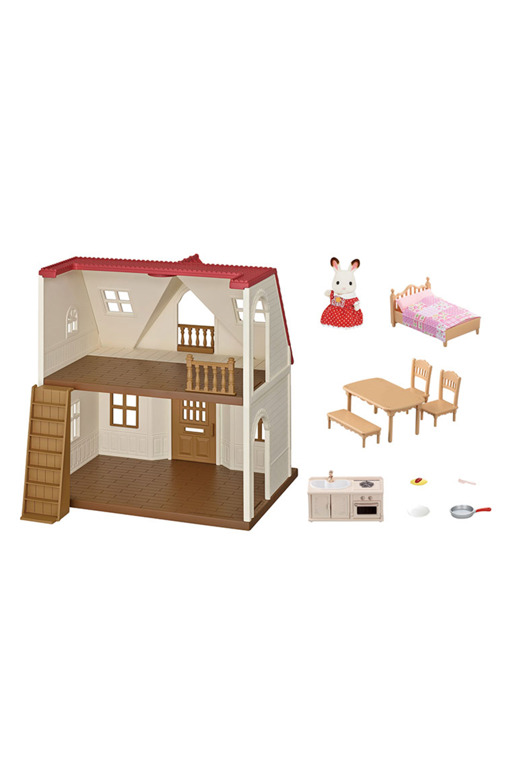 Calico Critters Red Roof Cozy Cottage - Back Cropped Image