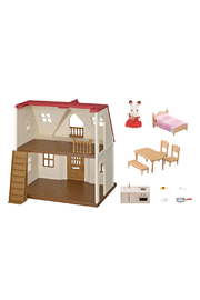 Calico Critters Red Roof Cozy Cottage - Back cropped