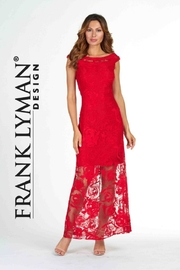Frank Lyman  Red Roses Woven Dress - Product Mini Image