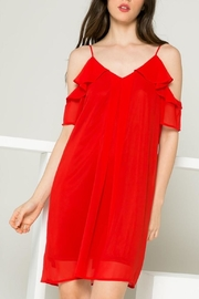 THML Clothing Red Ruffle Dress - Product Mini Image