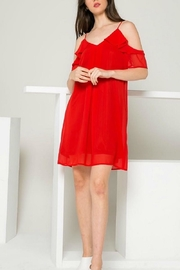 THML Clothing Red Ruffle Dress - Front cropped
