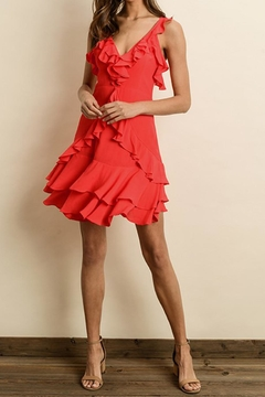 dress forum Red Ruffle Dress - Product List Image