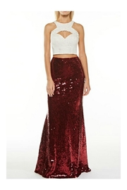 maniju Red Sequin Maxi - Product Mini Image